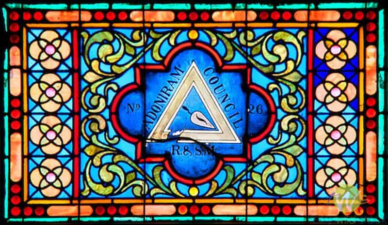 Masonic Temple Lodge Building stained glass windows, Williamsport, PA.