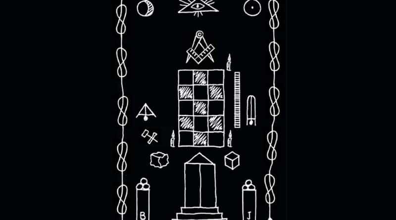 Desenho do Quadro de Loja do grau de Aprendiz