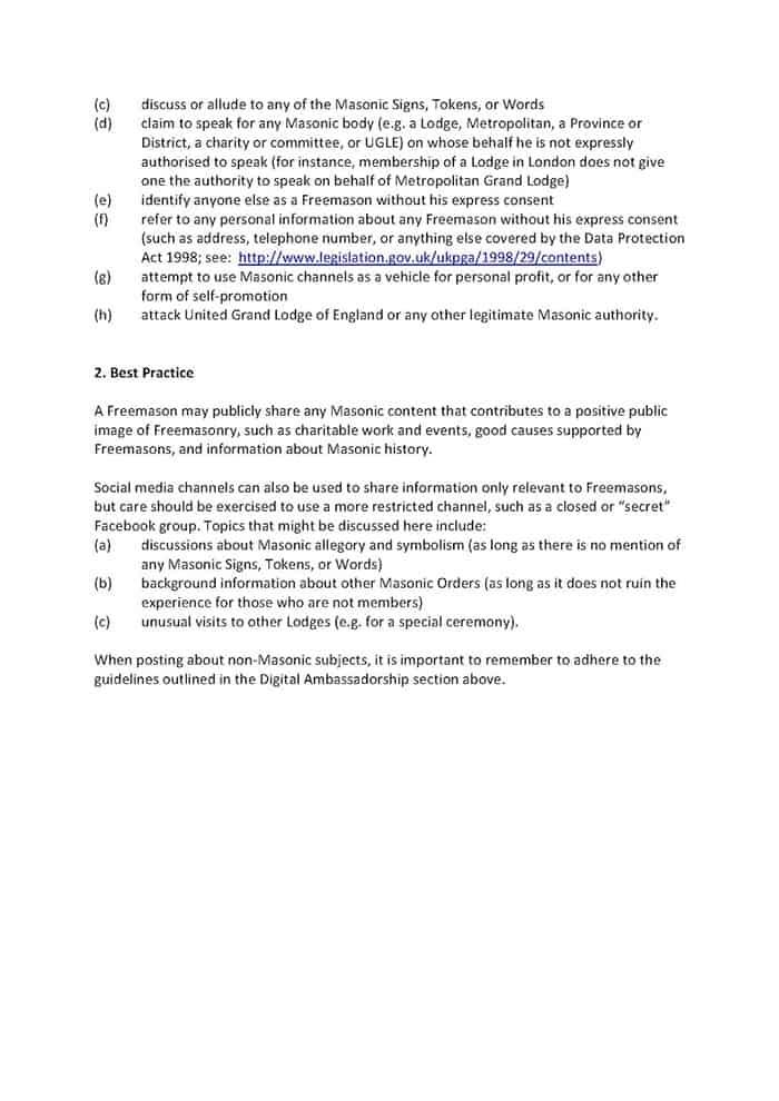 UGLE Social Media Policy 002