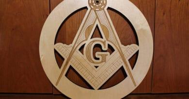 wood masonic symbols