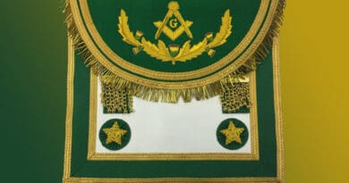 scottish master mason apron