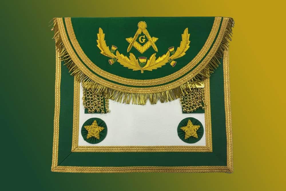 scottish master mason apron