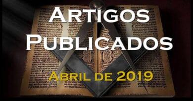 Artigos Publicados - Abril de 2019