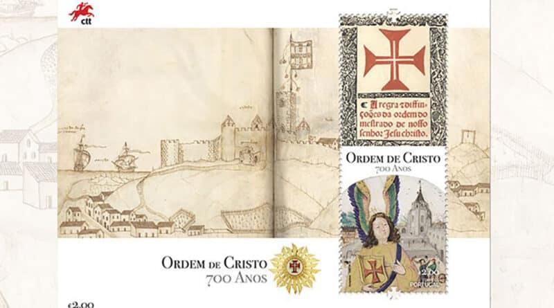 Celebração dos 700 anos da Ordem de Cristo em emissão filatélica dos CTT