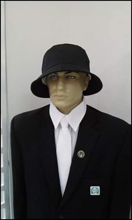 Chapéu do Rito Adonhiramita, bastante semelhante ao aspecto anatómico da glande