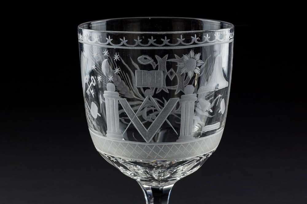 masonic glass hg54545