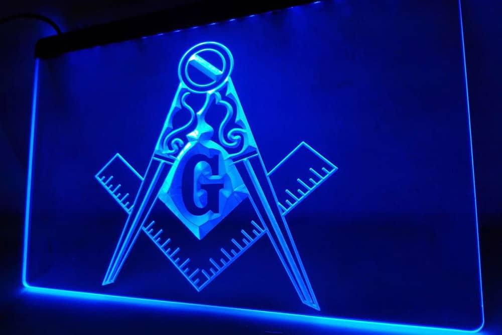 masonic blue neon hg6543wsdg