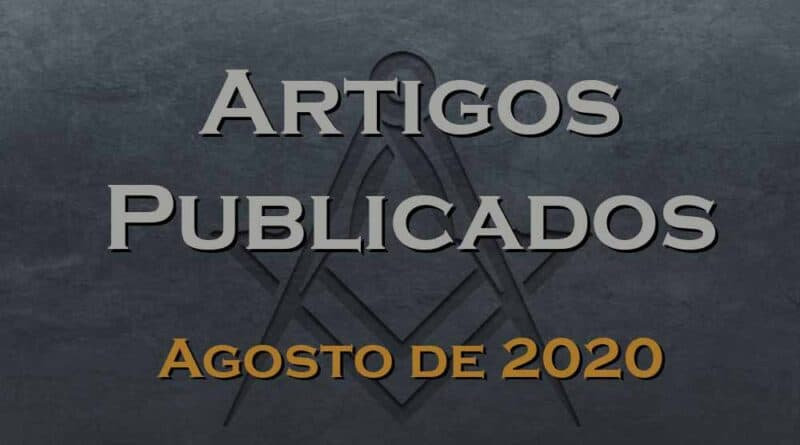 artigos publicados agosto 2020