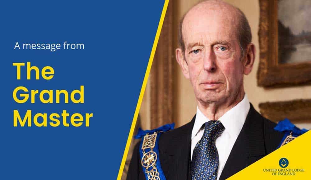 Grão-Mestre da United Grand Lodge of England (SAR Príncipe Edward, Duque de Kent, KG, GCMG, GCVO, ADC)