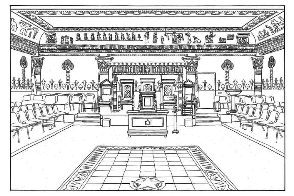Masonic Temple drawing
