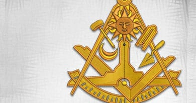 Masonic emblem with sun embroidery designs